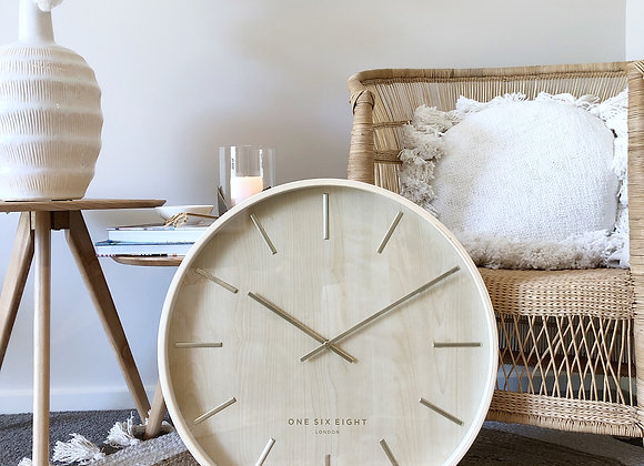 Solid plywood wall clock 51cm