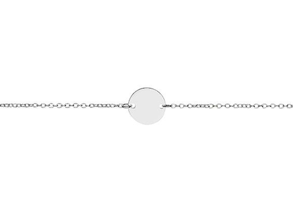 Sterling silver flat disk bracelet