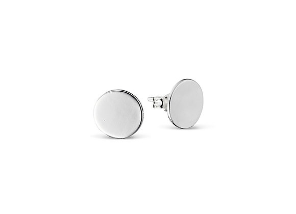 Sterling silver circle stud earring