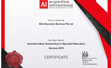 Australia's Most Outstanding for Specialist Relocation Services 2019