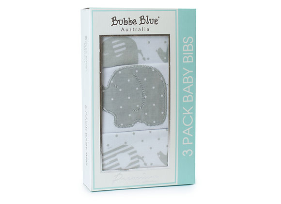 Bubba Blue - 3 Pack Baby Bibs Petit Elephant