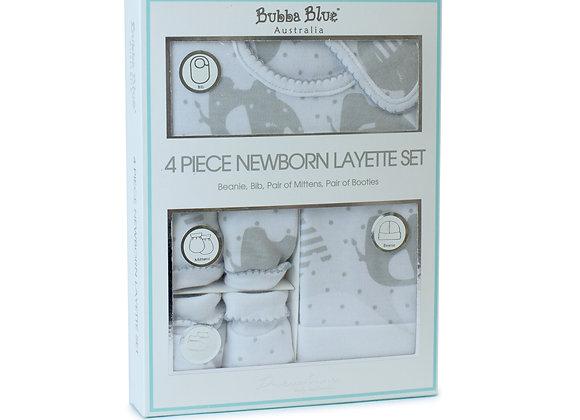Bubba Blue - 4 Piece Newborn Layette Set Petit Elephant