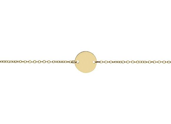 Sterling silver gold plated flat disk bracelet