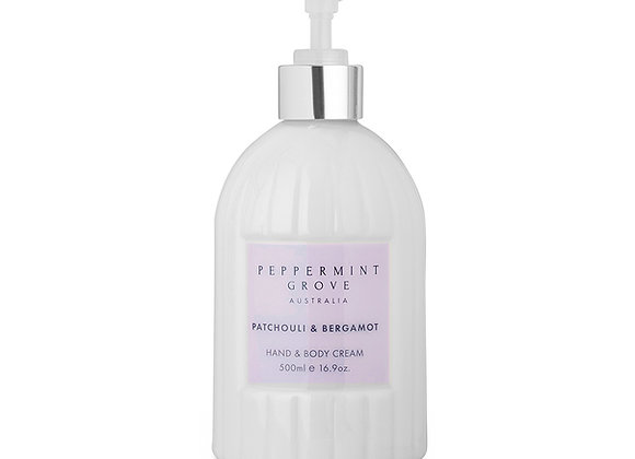 Patchouli & Bergamot Hand & Body Cream 500 ml