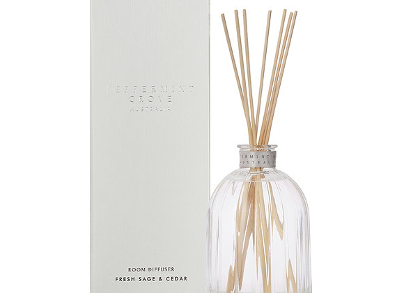 Peppermint Grove - Fresh Sage & Cedar Large Diffuser 350ml