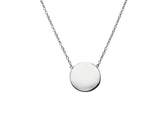 Sterling Silver brushed circle necklace