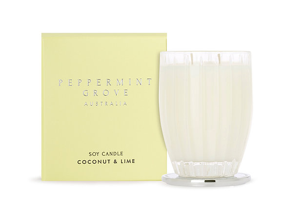 Peppermint Grove - Coconut & Lime Large Candle 350g