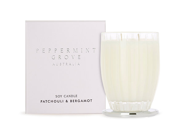 Peppermint Grove - Patchouli & Bergamot Large Candle 350g