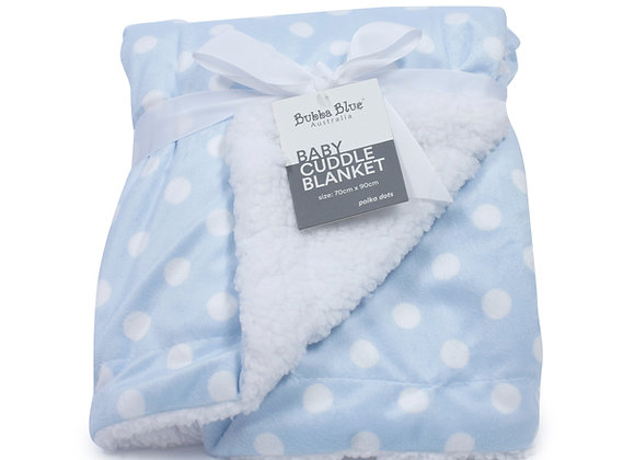 Bubba Blue - Blue Polka Dot Reversible Blanket