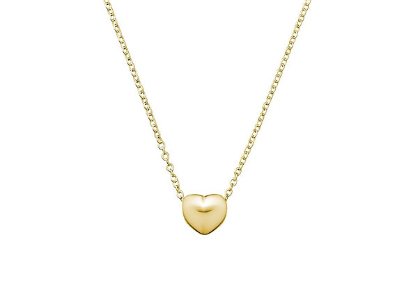Sterling silver gold plated floating heart necklace