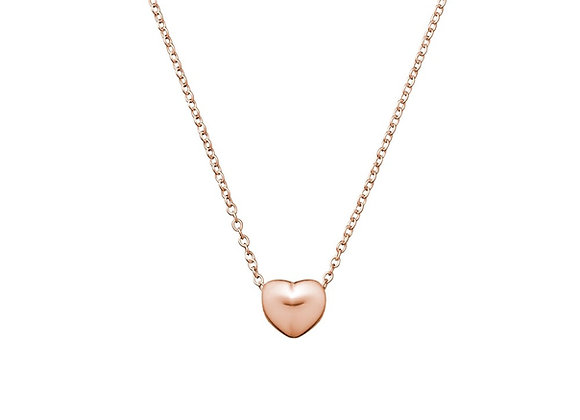 Sterling silver rose gold plated floating heart necklace