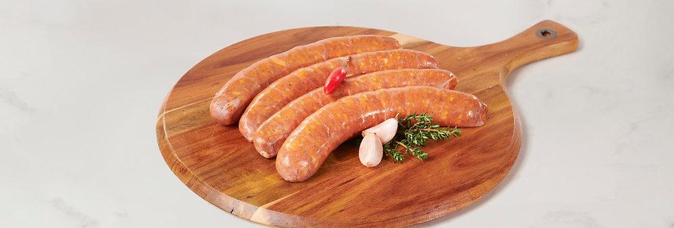 Spicy Pork, Fennel & Chilli Italian Sausage (gluten Free) 1kg