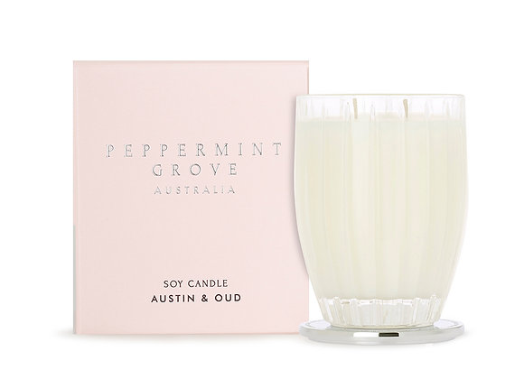 Peppermint Grove - Austin & Oud Large Candle 350g