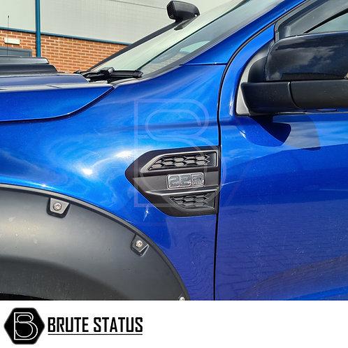 Ford Ranger 2016+ Side Vent Covers (Matt Black)