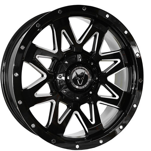 "Wolfrace Ranger Gloss Black Polished 20"" Alloy Wheels"