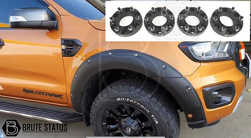 Ford Ranger 2019-20 Wide Arch Kit (Riveted w/Park Assist) & 35mm Wheel Spacers
