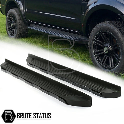 Ford Ranger fitted with Brute Status all black side steps