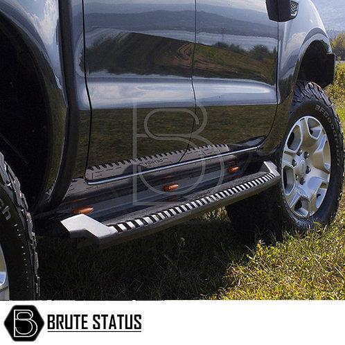 AQM-S30 Ford Ranger 2012+ Steel Side Steps (Black)