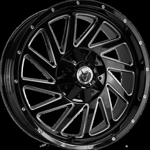 """Wolfrace Wildtrek Gloss Black Polished 20"""" Alloy Wheels"""