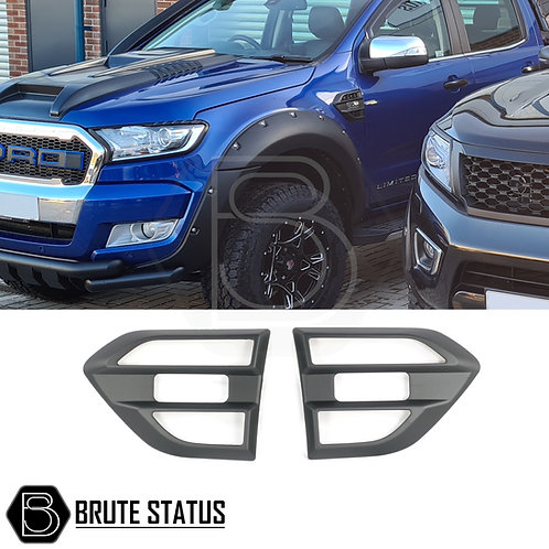 Ford Ranger 2016+ side vent cover in matt black