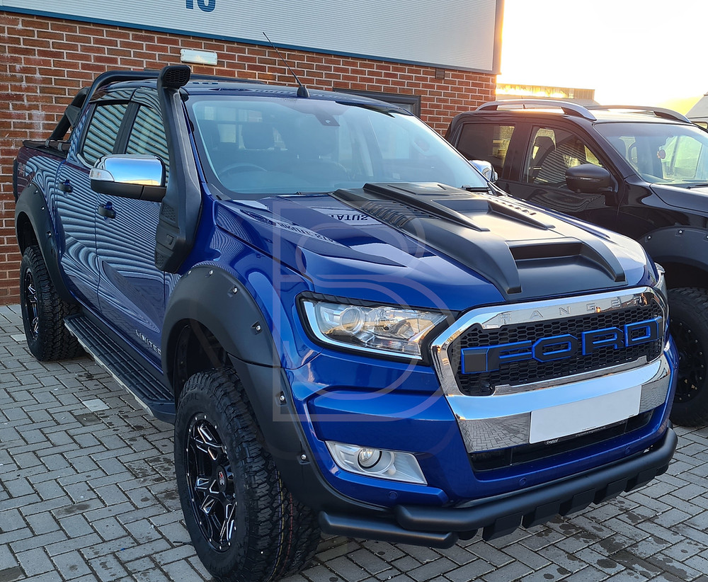 Modified blue Ford Ranger (T7) 2015-2019