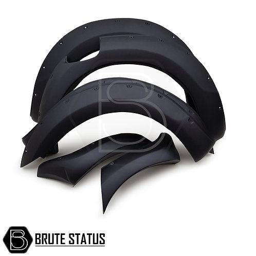 Ford Ranger Wide Raptor Style Wheel Arch Kit in matt black with rivets