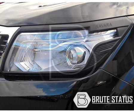 Nissan Navara 2014-2019 NP300 D23 Headlight Cover Guard Matte Black