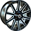 "Thumbnail: Wolfrace Kalahari Black and Polished 20"" Alloy Wheels"