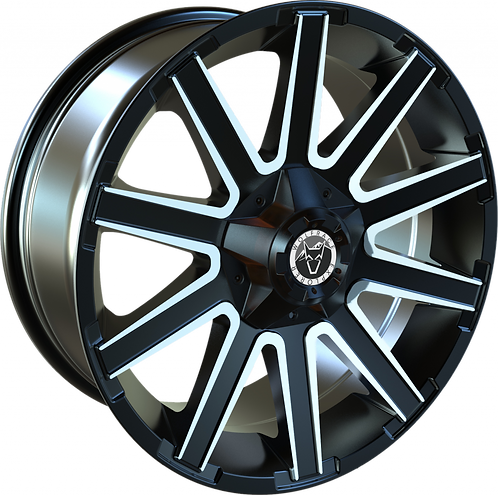 "Wolfrace Kalahari Black and Polished 20"" Alloy Wheels"
