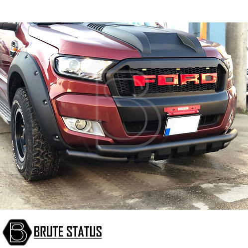 Ford Ranger 2015+ City Bar (Nudge Bar) Matt Black