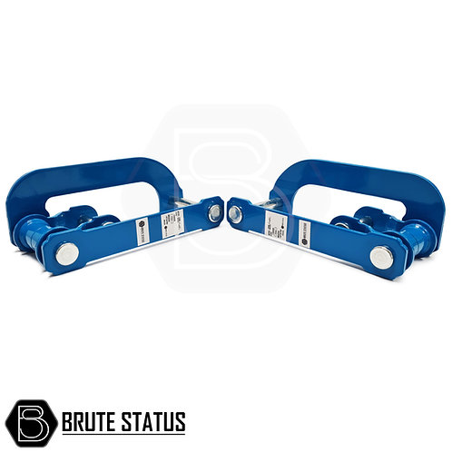 """Ford Ranger Rear 2"""" Suspension Lift Shackles in Blue by Brute Status"""