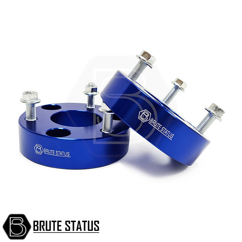 """Ford Ranger Suspension lift kit 2"""" front shock spacers in blue by Brute Status"""