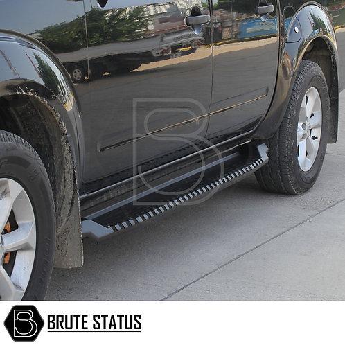 VW Amarok 2010-17 Steel Side Steps (Black) Heavy Duty Off Road Type