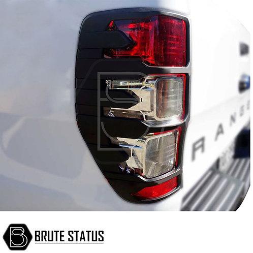 Ford Ranger Raptor Style Tail Light Covers in matt black