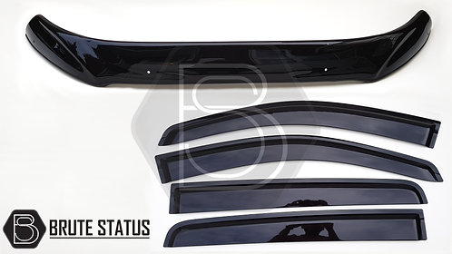 Ford Ranger 2015-18 Bonnet Guard Protector & Window Wind Deflectors
