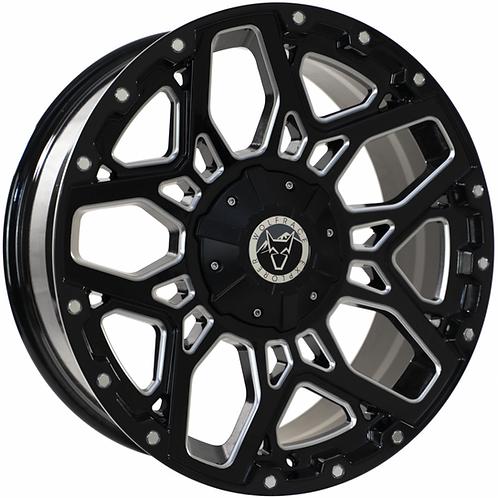 """Wolfrace Sahara Gloss Black Polished 20"""" Alloy Wheels"""
