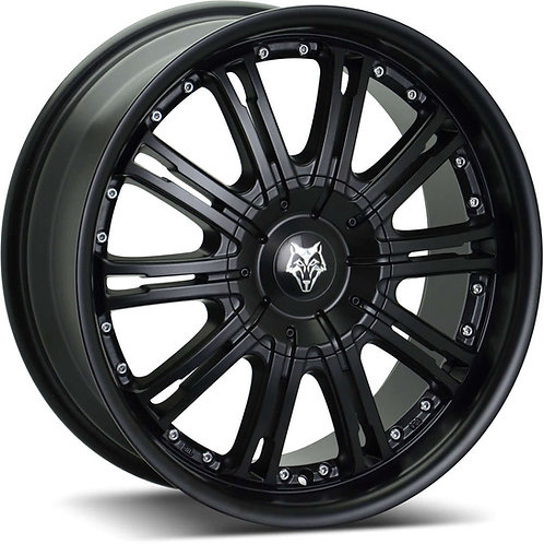 "Wolfrace Vermont Matt Black 20"" Alloy Wheels"