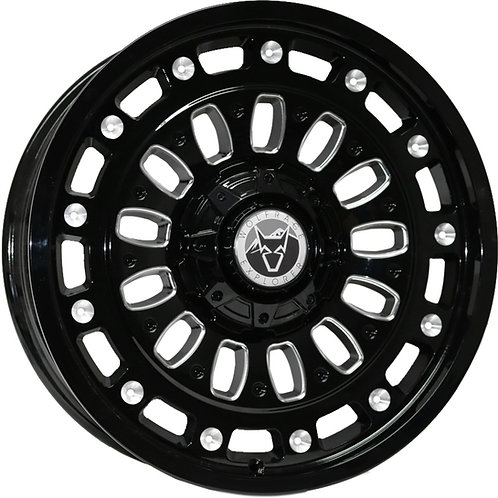 "Wolfrace Explore Gloss Black Polished 20"" Alloy Wheels"