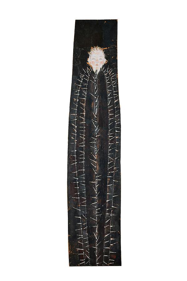 岩﨑絵里「サボテン」 2011年、約h90.5 × w22 × d3㎝