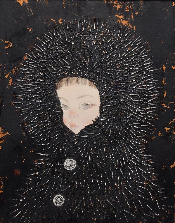 岩﨑絵里「森の実」 2017年、h40.9 × w31.8㎝
