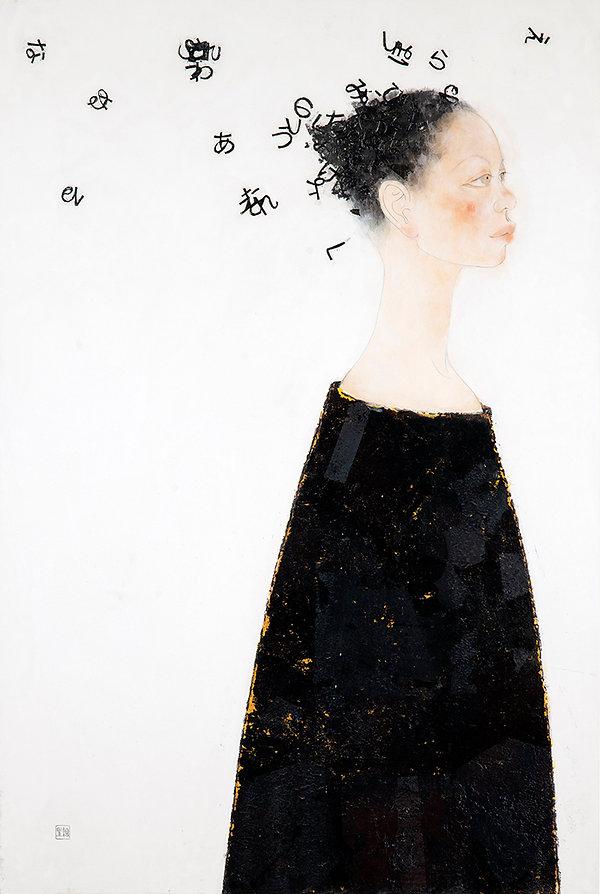 岩﨑絵里 「オハナシノハジマリ」 2009年、h91 × w60.6 × d1.5㎝