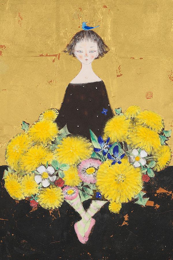 岩﨑絵里「Bouquet」2020年、h40.9 × w27.3㎝