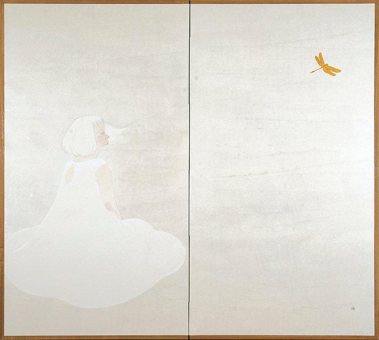 岩﨑絵里 「風わたる」 2014年、h150.7×w168×1㎝