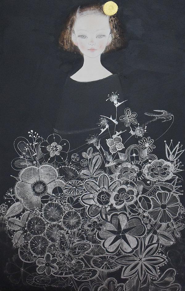 岩﨑絵里「小さな庭」 2015年、41.2×26.5cm