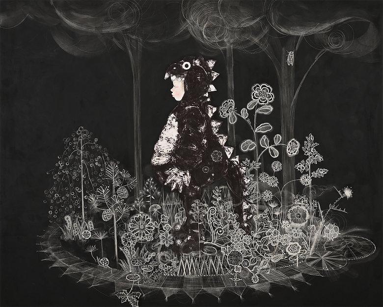 岩﨑絵里「Tiny Forest, Tiny Field」2020年、h45.5 × w60.6㎝