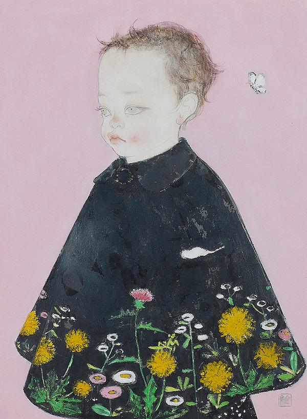岩﨑絵里「春」 2014年、h33.4 × w24.3㎝