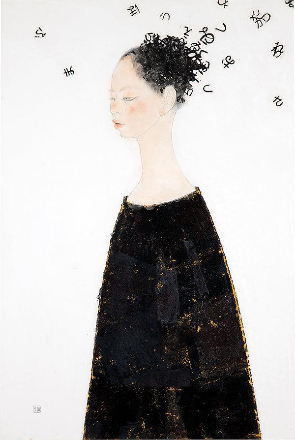 岩﨑絵里 「ホントハオシャベリ」 2009年、h91 × w60.6 × d1.5㎝