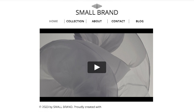 Portfolio & CV website templates – Small Brand