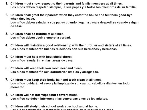 Children's Home Rules
