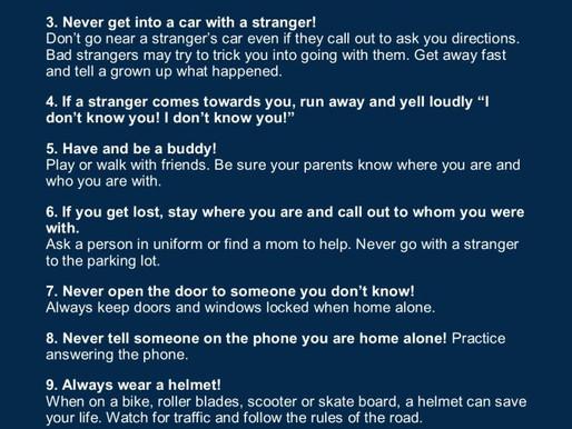 Summer Safety Reminders!